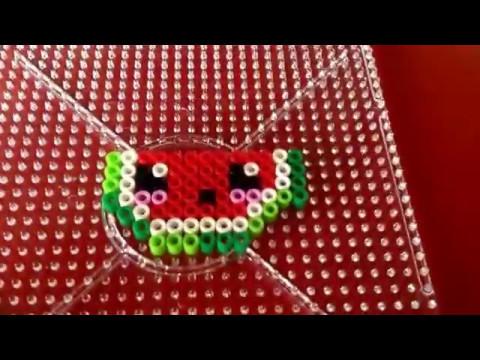 Como hacer una sandía con Hama beads