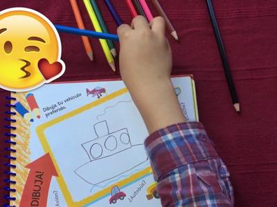 De niños para niños. Dibujando barco. Fácil y rápido. Manualidades para niños.