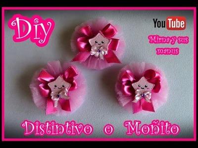 Diy  Distintivo Baby shower  o Moño  Mirna y sus manus. Diy Baby Shower Souvenirs