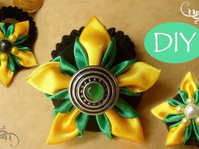 ????DIY Nuevo pétalo tulipán de cintas raso. Kanzashi satin ribbon flower you can DIY!