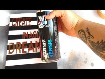 DIY: Pinta un lienzo con pintura en spray Pintyplus