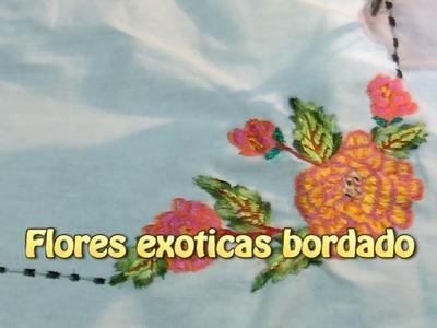 Flores exoticas bordado |Creaciones y manualidades angeles