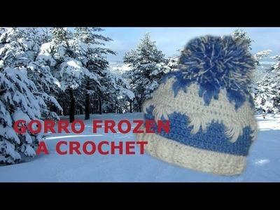 Gorro facil a crochet FROZEN