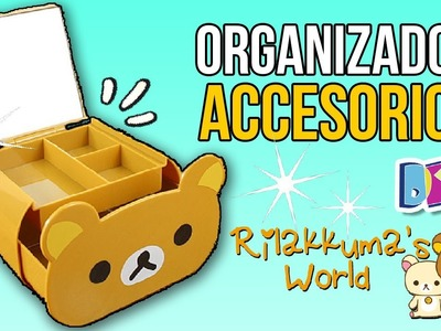 Haz un ORGANIZADOR de ACCESORIOS de RILAKKUMA!! * Manualidades Fáciles Kawaii Decora tu Habitación