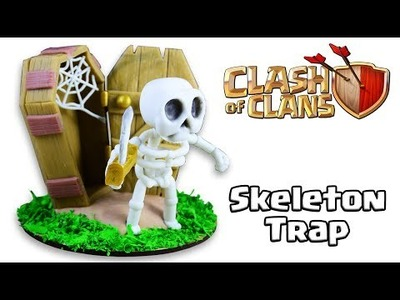 How to Make Skeleton Trap | Clash of Clans | Cold Porcelain. Polymer Clay Tutorial