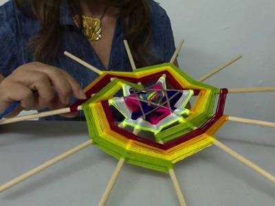 Mandala Espiral de la Vida.    Segunda parte: como diseñar y tejer una espiral de 12 puntas.