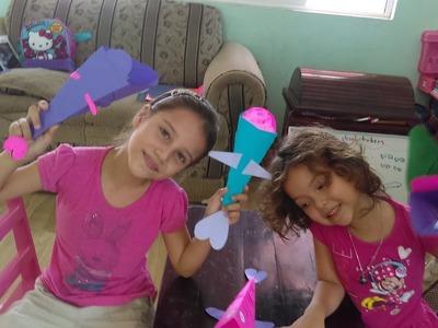 Manualidades para niños, peces articulados de papel *Las chiquitubers*