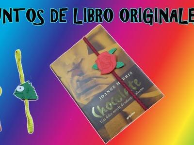 PUNTO DE LIBRO ORIGINAL. manualidades fáciles
