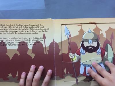 Puzzle el rey David y Goliat. Manualidades para los niños.