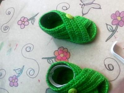 Sandalias tejidas a crochet para bebé #Consejos