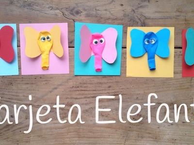 Tarjetas de cumpleaños de elefantes  | Manualidades de animales