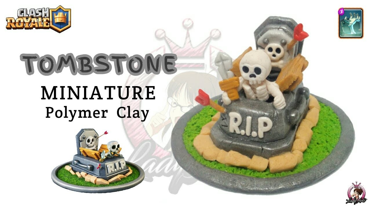 TombStone   Clash Royale   Polymer Clay Tutorial