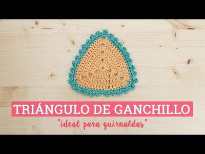 Triángulo de ganchillo ideal para guirnalda | Bluü