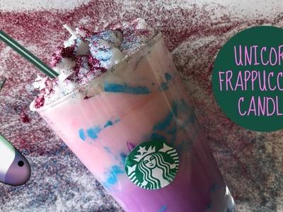 UNICORN FRAPPUCCINO CANDLE | (DIY) Vela inspirada en Frappé Unicornio de Starbucks