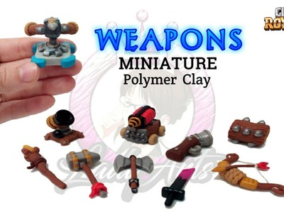 Weapons | Clash Royale | Polymer Clay Tutorial