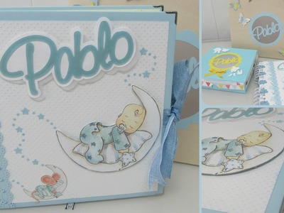 Álbum de fotos bebé niño ( Dayka - First Edition) - Scrapbooking