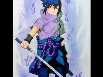 Como dibujar a Sasuke Uchiha|Naruto Shippuden|Speed drawing Sasuke Uchiha