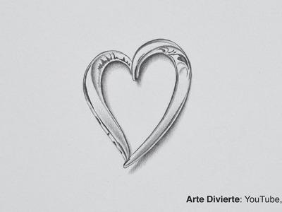 Cómo dibujar un corazón de plata - Rifa lapicero Kaweco
