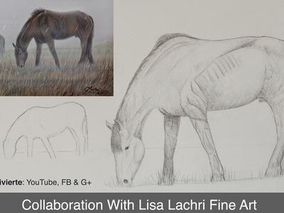 Cómo dibujar y pintar un caballo - Colaboración con Lachri Fine Art