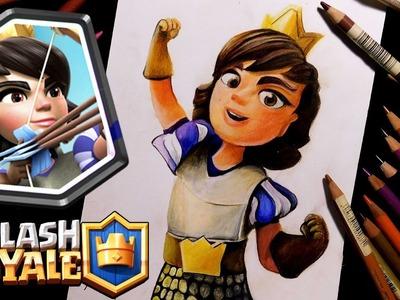 Como dibujo a la Princesa de clash Royale   Speed drawing to the princess of clash royale