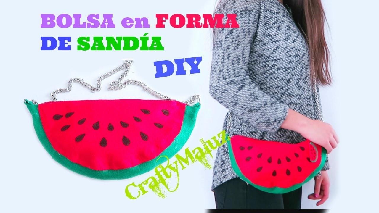 COMO HACER una BOLSA en FORMA DE SANDÍA | DIY  Watermelon Purse
