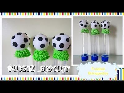 DIY: Tubete ,Bola de Futebol de Biscuit, tema Brinquedos, Niver do Gustavo _Myla Indiano