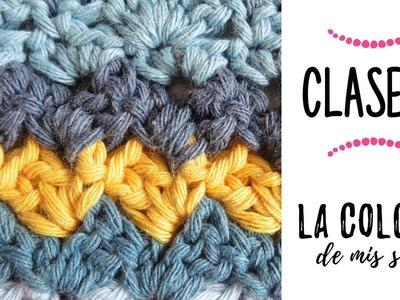 LA COLCHA DE MIS SUEÑOS: CLASE 12 | punto abanicos acostados a crochet