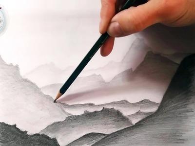 Mas Tecnicas de Dibujo a Lapiz: Cómo Dibujar Paisajes y Montañas Lejanos