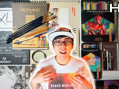 Mis Materiales de Dibujo - ¿Qué Materiales utilizo para Dibujar? - TheMaxiArte Especial 60.000 Subs