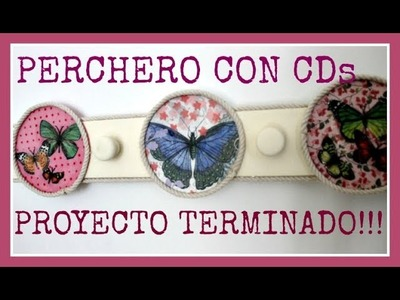 Percherito con CDs reciclados en tutoriales anteriores - DIY - Reciclado