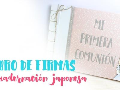 TUTORIAL SCRAPBOOKING - Libro de Firmas de Comunión con encuadernación japonesa