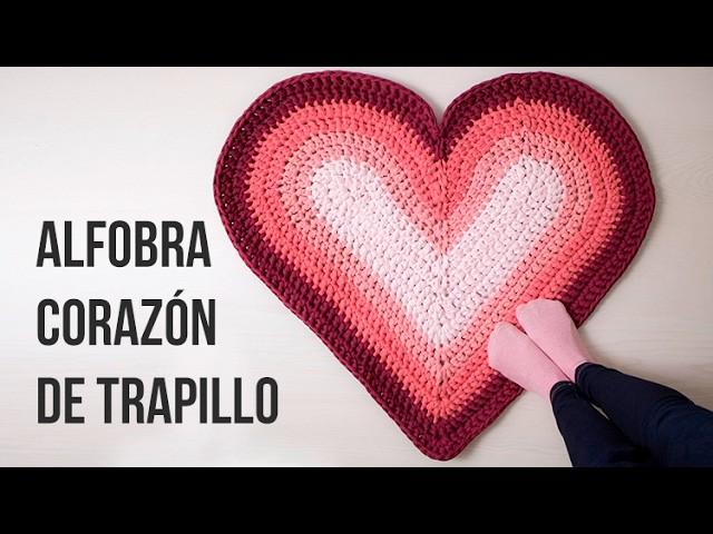 Alfombra corazón de trapillo y SORTEO!! (CERRADO)