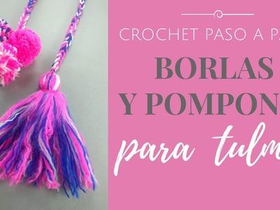 BORLAS Y POMPONES PARA TULMAS - Paso a Paso por mamaQuilla