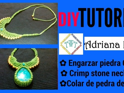 COLLAR CON CENTRO SIN RANURA ✿NECKLACE WITH CENTER WITHOUT SLOT ✿COLAR COM CENTRO SEM SLOT #2