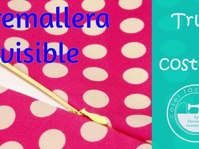 Cómo coser cremalleras o cierres invisibles, muy fácil!