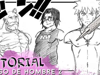 COMO DIBUJAR EL TORSO DE UN HOMBRE 2 (DELGADO - GORDO - MUSCULOSO)  | Why So Gurin