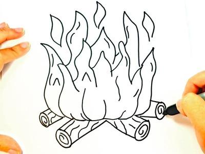 Cómo dibujar Fuego   Dibujo de Fuego paso a paso
