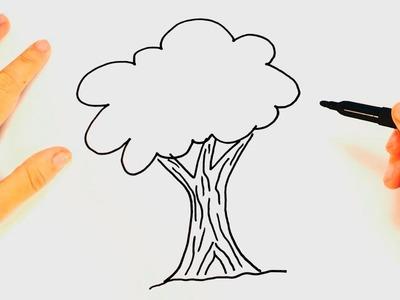Cómo dibujar un Árbol paso a paso | Dibujo fácil de Árbol