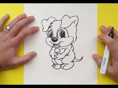 Como dibujar un perro paso a paso 34   How to draw a dog 34
