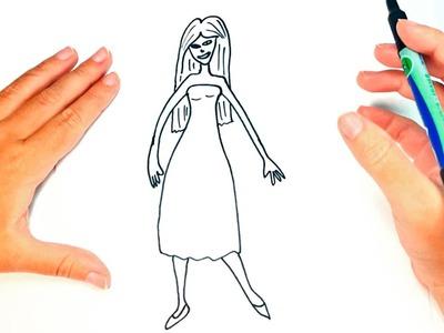 Cómo dibujar una Mujer para niños | Dibujo de Mujer paso a paso
