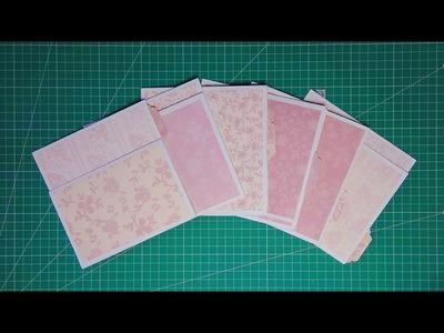 Decoración de desplegables y creación de tarjetas para los sobres