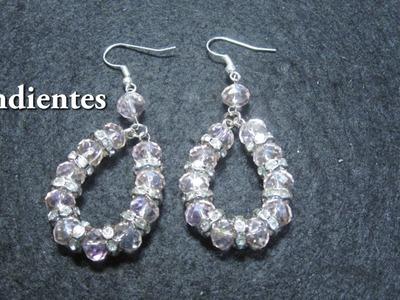 # DIY - Pendientes de cristallitos Swarovski y separadores # DIY - Swarovski Earrings