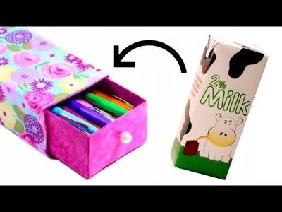 Estuche hecho con caja de leche #4