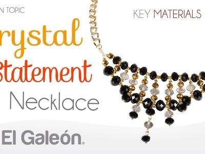 Fashion Topic El Galeón Crystal Statement Necklace (Collar con Cristales)