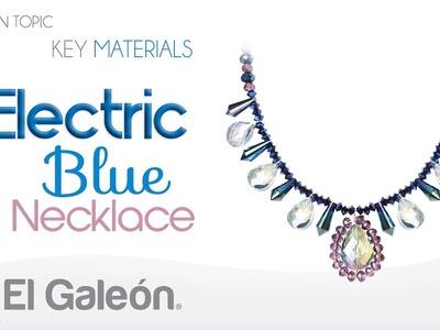 Fashion Topic El Galeón Electric Blue Necklace (Collar Azul Eléctrico)