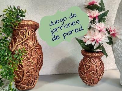 JUEGO DE JARRONES DE PARED