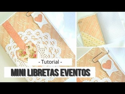 MINI LIBRETAS PARA EVENTOS - TUTORIAL | LLUNA NOVA SCRAP
