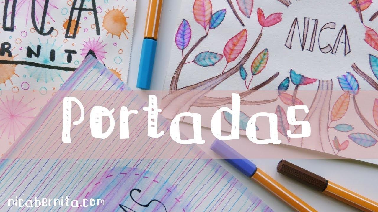 Portadas Para Decorar Cuadernos Libretas Y Agendas Dibujo