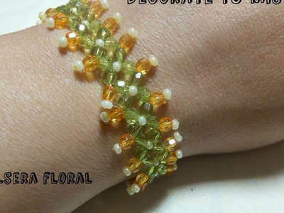d17029019d4a ... anillos de perlas y cuentas pinch en. 306 11K. Pulsera de flores paso a  paso.