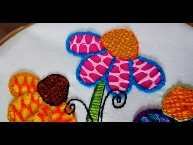 [Puntada Fantasía] Flores, hojas y centros de Catarina | Bordados con Isa